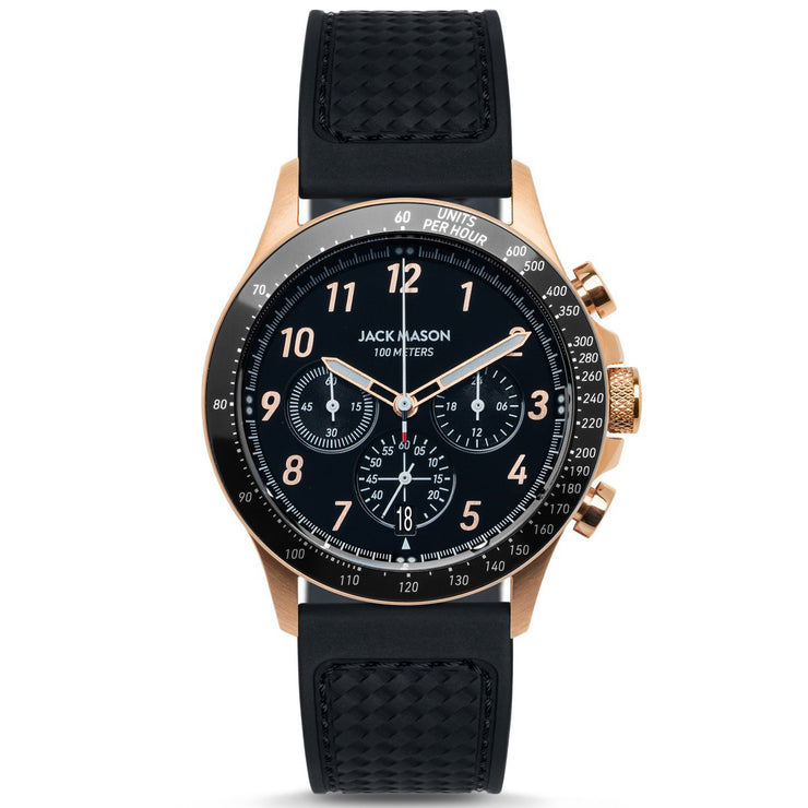 Jack Mason Racing Camber Chronograph Black Rose Gold