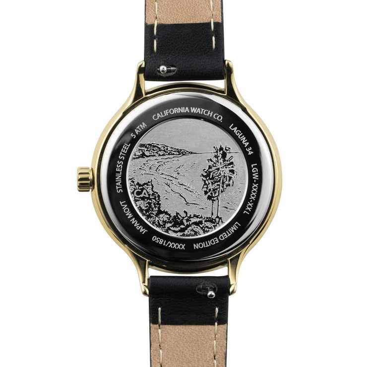 California Watch Co. Laguna 34 Leather Black Gold