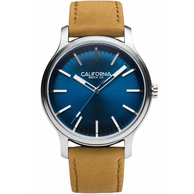 California Watch Co. Laguna 40 Leather Sand Navy