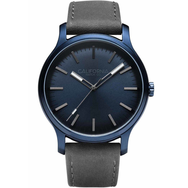 California Watch Co. Laguna 40 Leather Deep Blue Gray