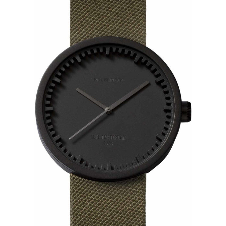 LEFF Amsterdam Tube Watch D42 Black Green Cordura