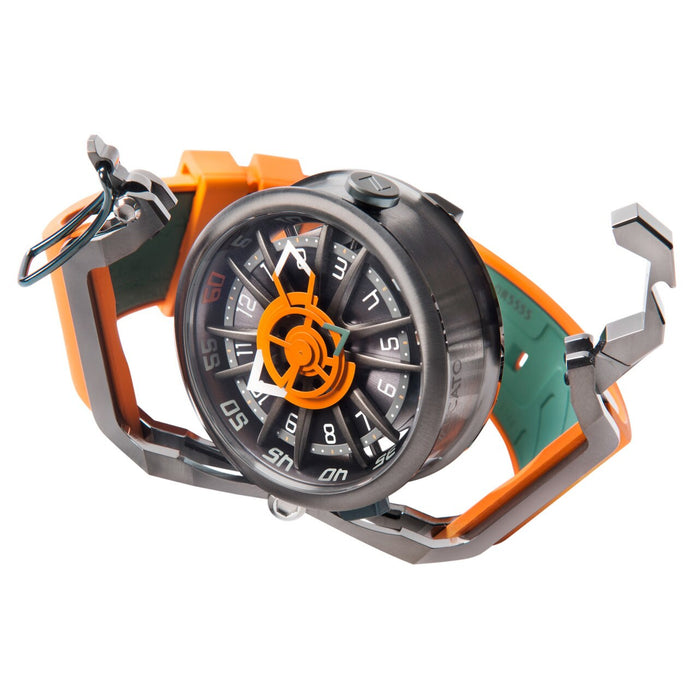 Mazzucato RIM Reversible Automatic Orange Green angled shot picture