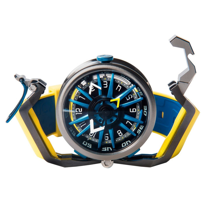 Mazzucato RIM Reversible Automatic Yellow Blue angled shot picture