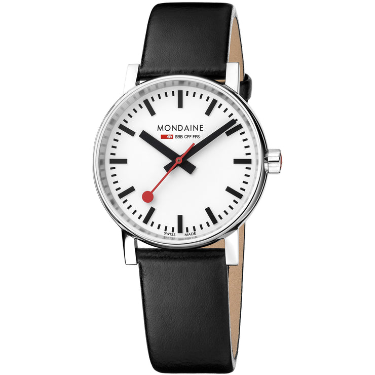 Mondaine Evo2 Railways Swiss 35mm Silver Black