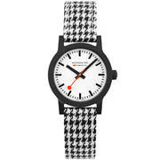 Mondaine Essence Sustainable Materials 32mm Black Houndstooth