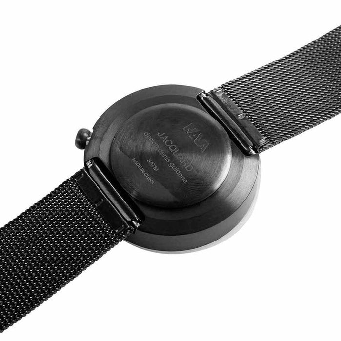 Nava Jacquard Black Mesh 39mm angled shot picture