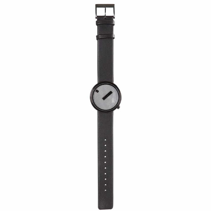 Nava Jacquard Black Leather 39mm