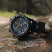 Nixon 38-20 Chrono All Black Rose Gold