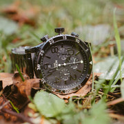 Nixon 48-20 Chrono Polished Gun/Lum