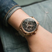 Nixon Bullet Chrono Crystal All Rose Gold Gunmetal