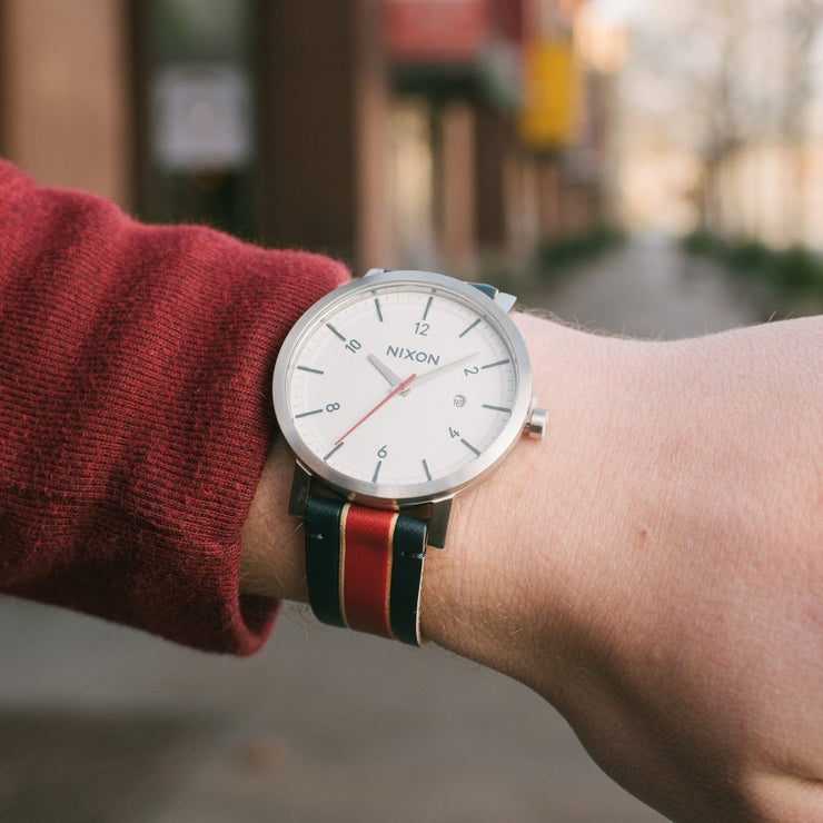 Nixon Rollo White Stripes