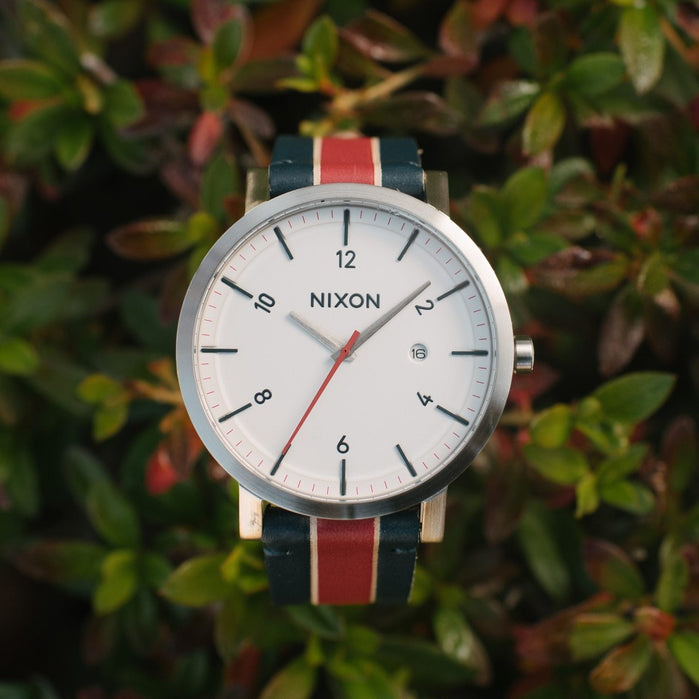 Nixon Rollo White Stripes angled shot picture