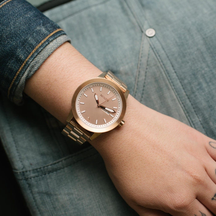 Nixon Spur All Rose Gold angled shot picture