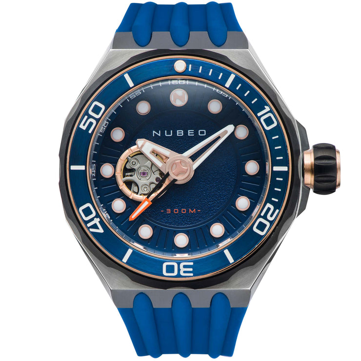 Nubeo Mariana Automatic Mesopic Blue Rose Gold