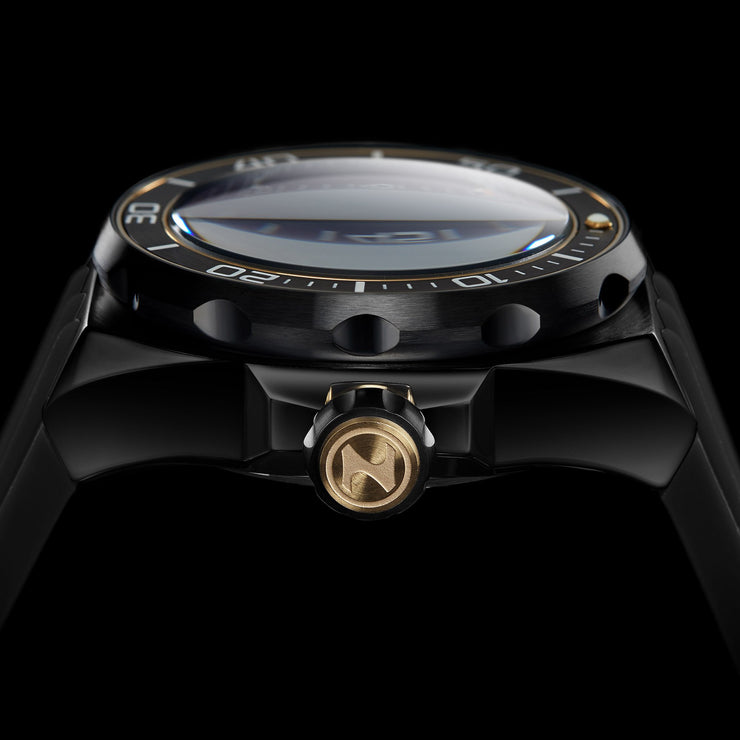 Nubeo Mariana Automatic Dragon Fish Black Gold