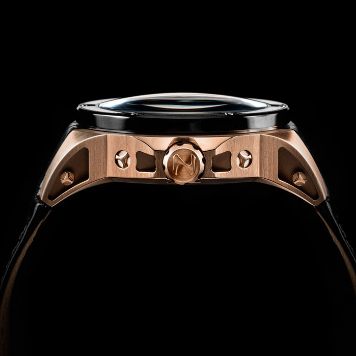 Nubeo Satellite Automatic Ranger Black Rose Gold angled shot picture