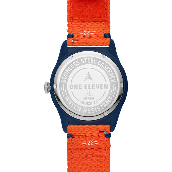 One Eleven CBOE2012 SWII Solar rPet Orange Navy angled shot picture
