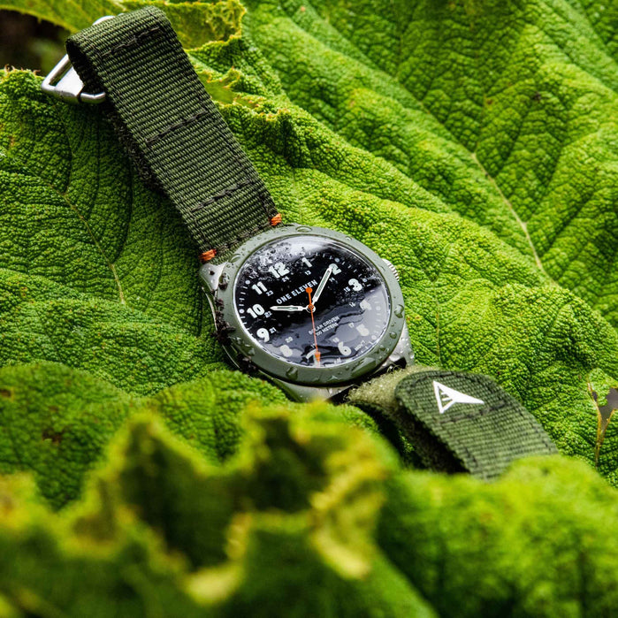One Eleven CBOE2030 Solar Field Watch Olive angled shot picture