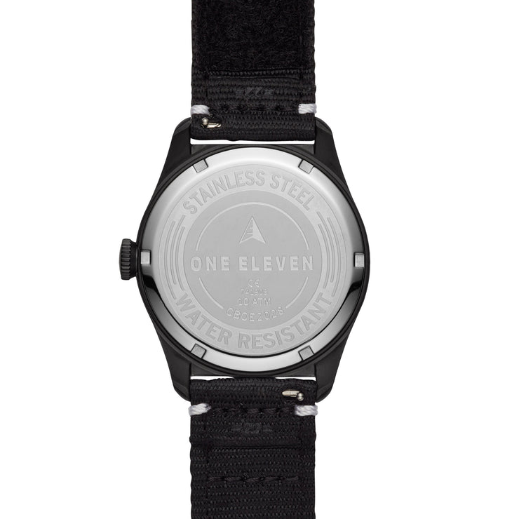 One Eleven CBOE2028 Solar Field Watch Black
