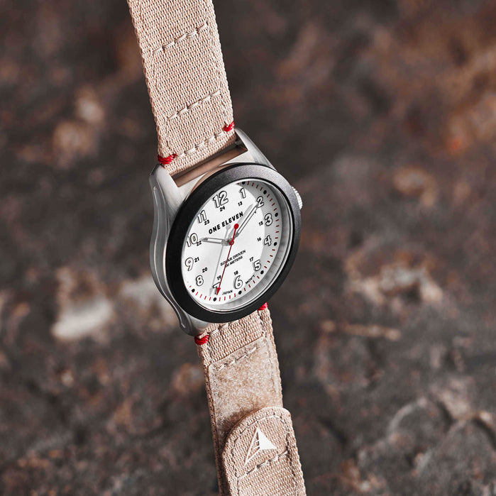 One Eleven CBOE2029 Solar Field Watch Desert angled shot picture