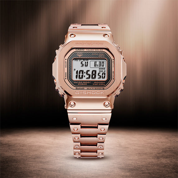 G-Shock GMW-B5000 Full Metal Rose Gold angled shot picture