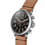 Shinola Runwell Chrono 47mm Tan Leather Strap