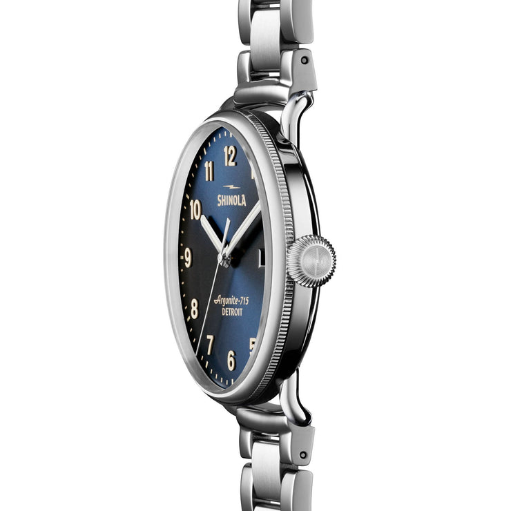 Shinola Canfield 43mm Stainless Steel Midnight Blue