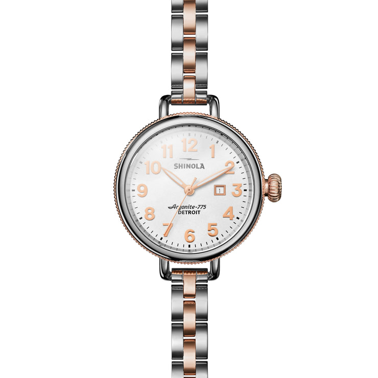 Shinola Birdy 34mm Silver Rose Gold