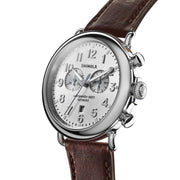 Shinola Runwell Chrono 47mm Silver Brown