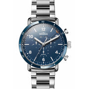 Shinola Canfield Sport Chrono Calendar 45mm Midnight Blue Steel