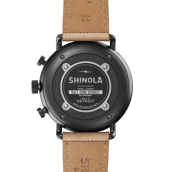 Shinola Canfield Sport Chrono Calendar 45mm Gunmetal Natural angled shot picture