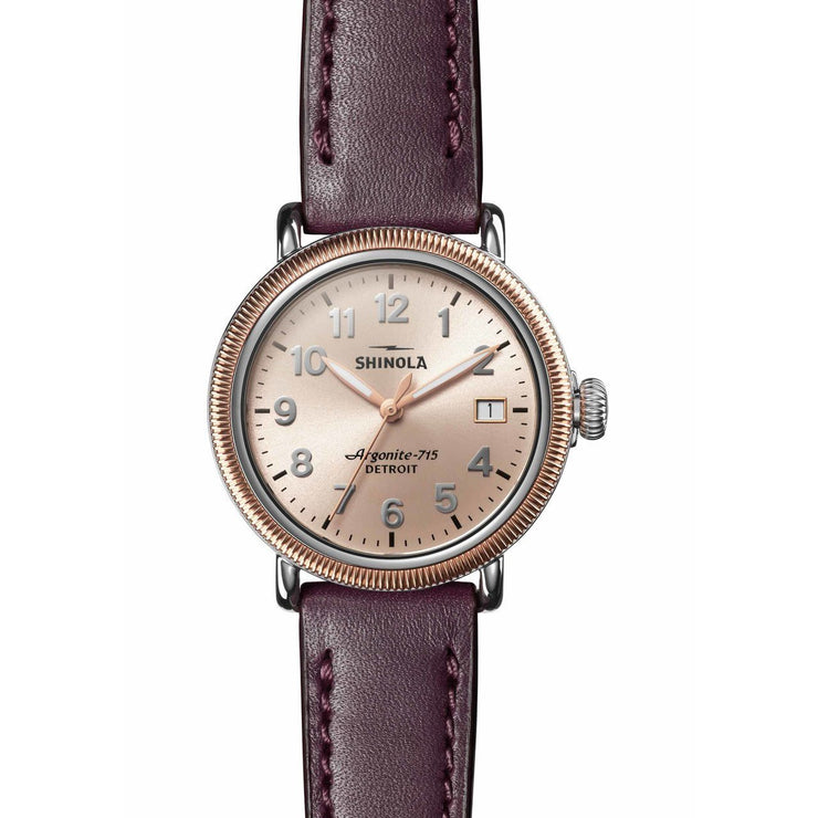 Shinola Runwell Coin Edge 38mm Rose Gold