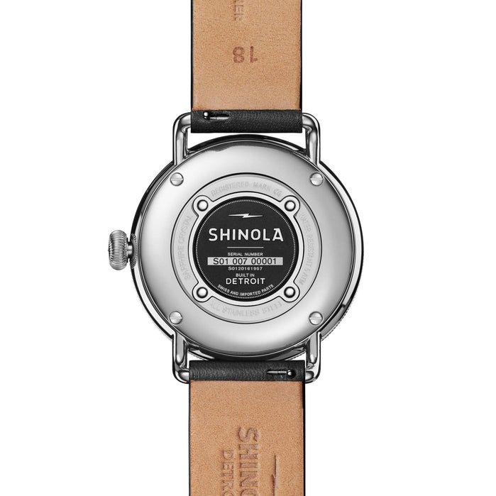 Shinola Canfield 38mm Black Silver angled shot picture