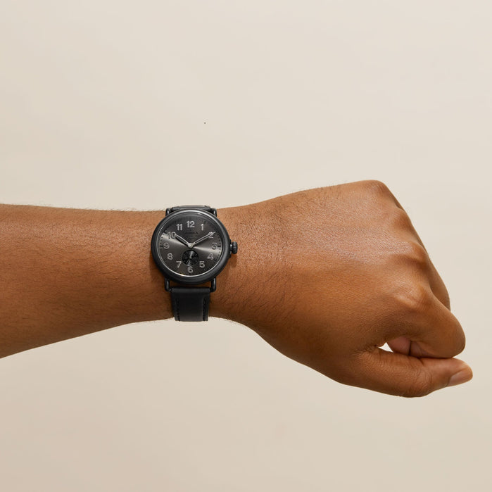 Shinola Runwell 41mm Blackout angled shot picture