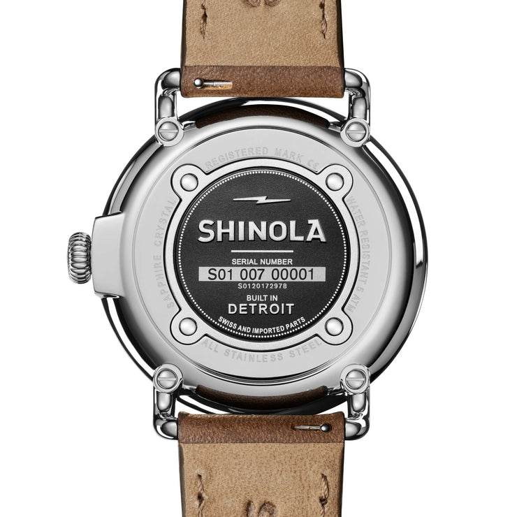 Shinola Runwell 41mm Blue Brown
