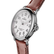 Shinola Runwell 41mm Alabaster Brown