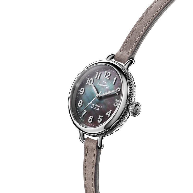 Shinola The Birdy 34mm Grey Mother of Pearl
