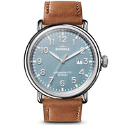Shinola The Runwell 47mm Light Blue Brown