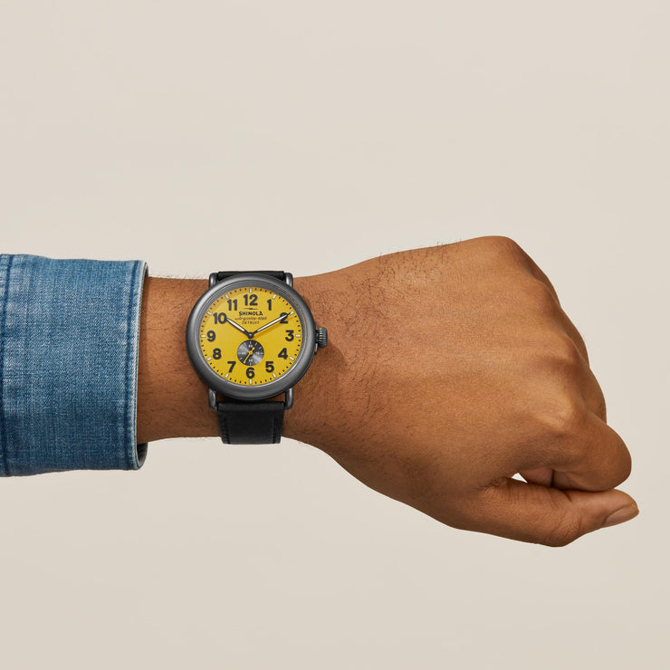 Shinola The Runwell 47mm Yellow Black