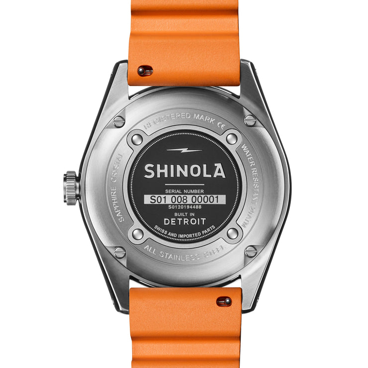 Shinola The Duck 42mm Orange Green