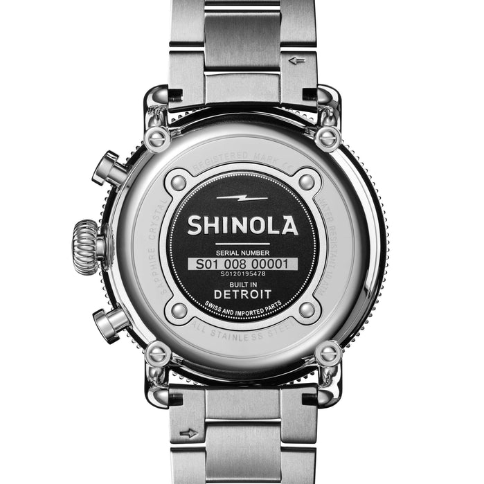 Shinola Runwell Sport Chrono 48mm All Silver angled shot picture