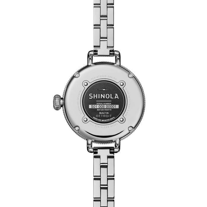 Shinola Birdy 34mm Silver Gray Mother of Pearl angled shot picture