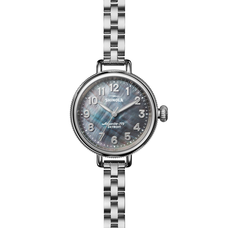 Shinola Birdy 34mm Silver Gray Mother of Pearl