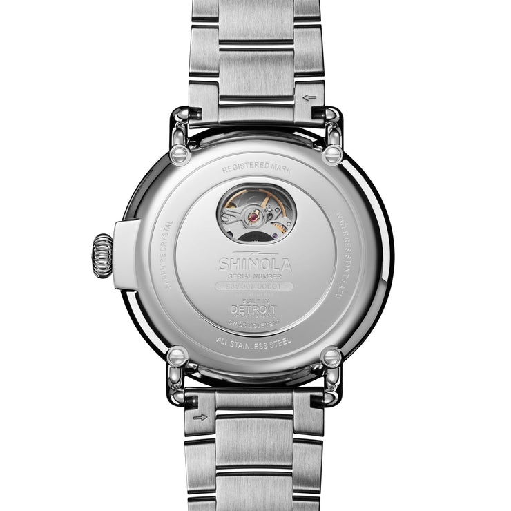 Shinola Runwell 45mm Automatic Grey Silver SS