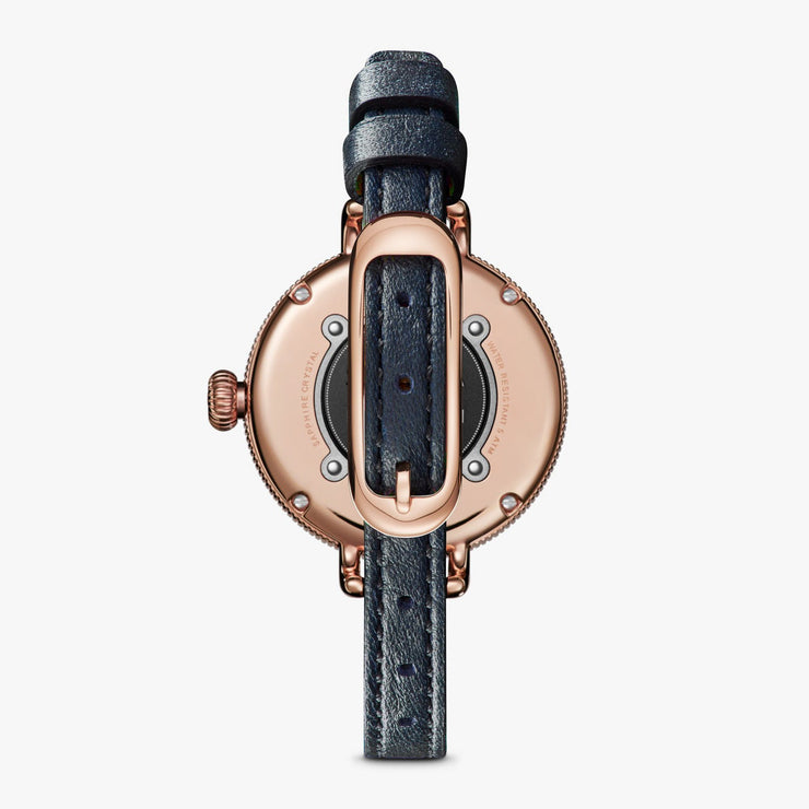 Shinola 34mm Birdy Rose Gold White