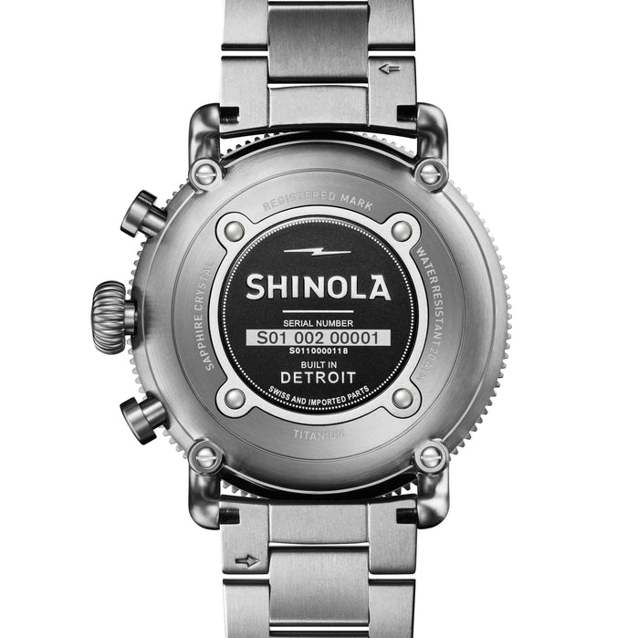 Shinola Black Blizzard 48mm Titanium Chrono angled shot picture