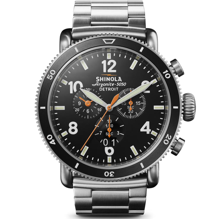 Shinola Black Blizzard 48mm Titanium Chrono