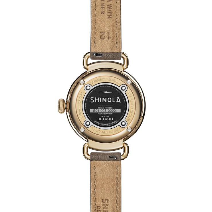 Shinola Canfield 32mm Kaleidoscope Midnight Blue Mother of Pearl