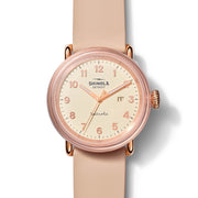 Shinola Detrola 43mm The Pinky Rose Gold Pink