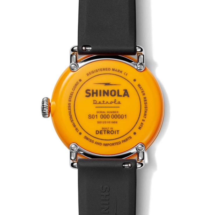 Shinola Detrola 43mm The No.2 Yellow Black